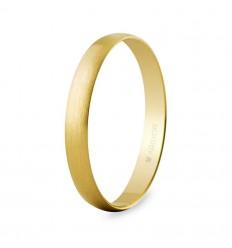 Alianza boda oro 3mm satinada (50302S)