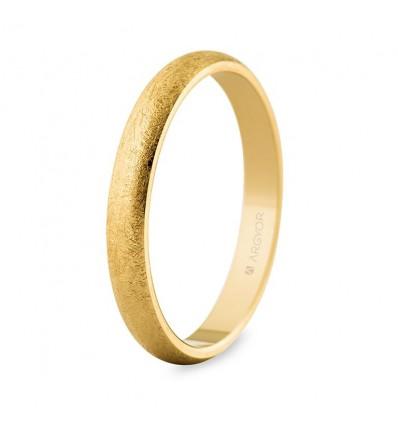Alianza boda de oro 3mm hielo (50306T)