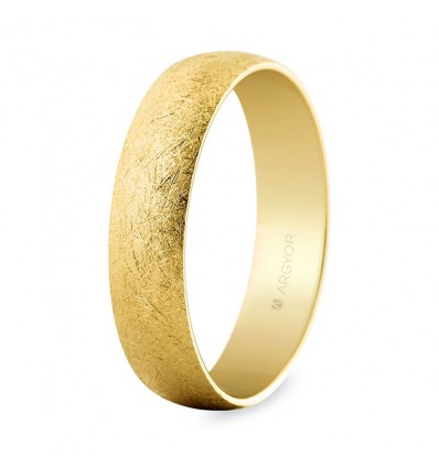 Alianza boda oro 5 mm hielo (50505H)