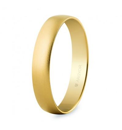 Alianza de boda oro arena 4mm (50403M)