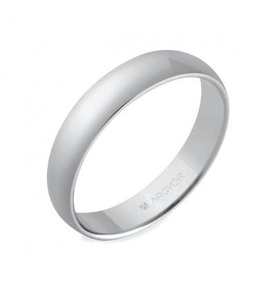 ALIANZA MOD. 5740001. Alianza de plata 4mm clásica (5740001)