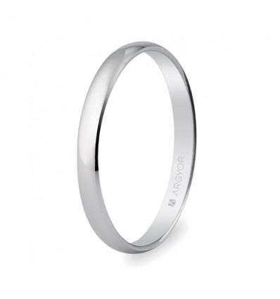 ALIANZA MOD. 5B253. Alianza de boda oro blanco 2,5mm (5B253)