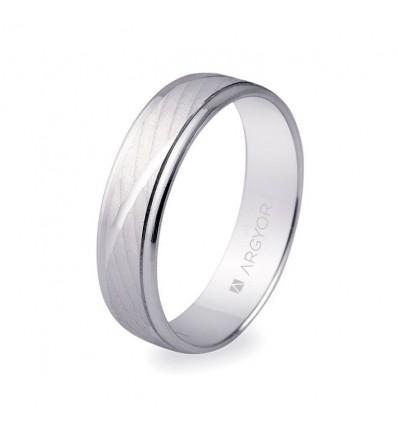 ALIANZA MOD. 5B50329. Alianza boda oro blanco 5B50329