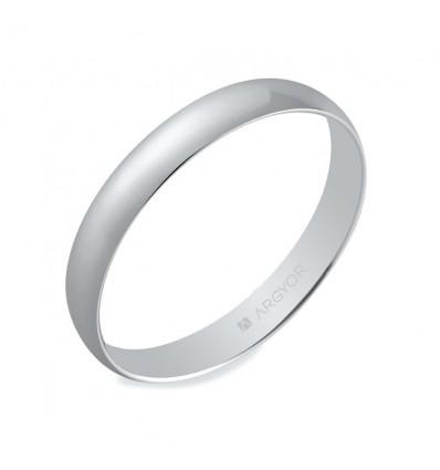 ALIANZA MOD. 5B302. Alianza de boda oro blanco 5B302