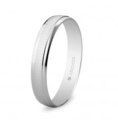 ALIANZA MOD. 5B35495. Alianza boda 3,5mm oro blanco 5B35495