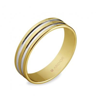 ALIANZA MOD. 5150210R. Alianza boda oro bicolor 5150210R