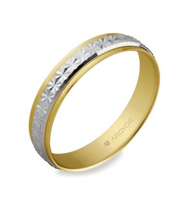 ALIANZA MOD. 5240108. Alianza de boda 2oros 5240108