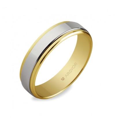 ALIANZA MOD. 5250158. Alianza de boda bicolor 5250158