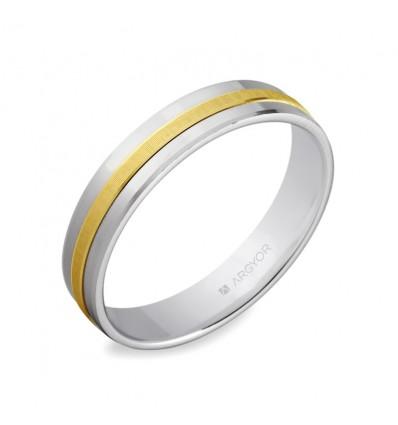 ALIANZA MOD. 5242255. Alianza de boda bicolor 5242255