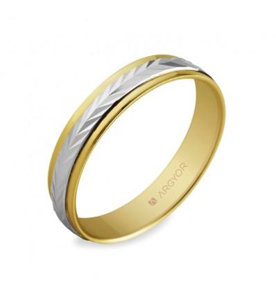 ALIANZA MOD. 5240283. Alianza de boda 2oros 5240283