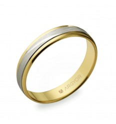 ALIANZA MOD. 5240329. Alianza de boda bicolor 5240329