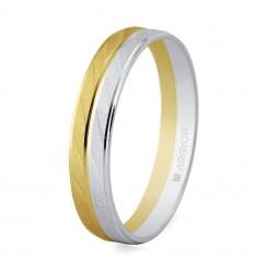 ALIANZA MOD. 5240426. Alianza de boda bicolor 5240426