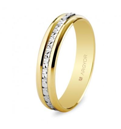 ALIANZA MOD. 5245463. Alianza de boda bicolor 5245463