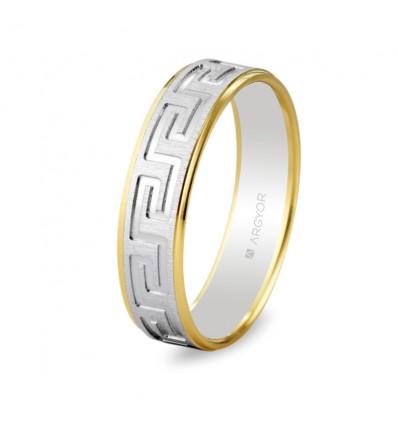 ALIANZA MOD. 5245448. Alianza de boda bicolor 5245448