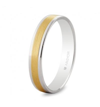 ALIANZA MOD. 5240497. Alianza de boda bicolor 5240497