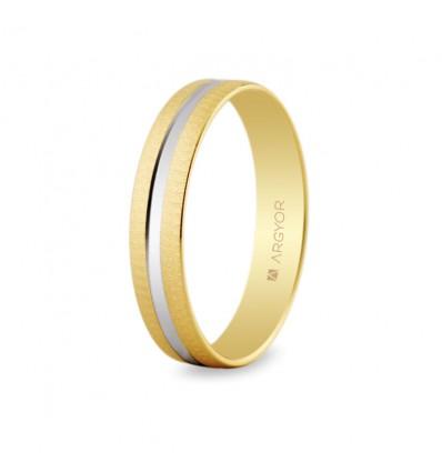 Alianza de boda bicolor 5241474R