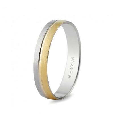 Alianza de boda bicolor 5240480