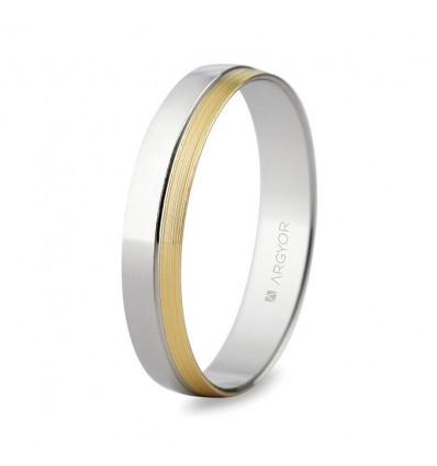 Alianza de boda bicolor 5240481