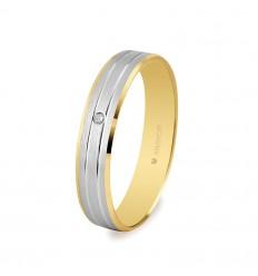 Alianza de boda bicolor 5240436D