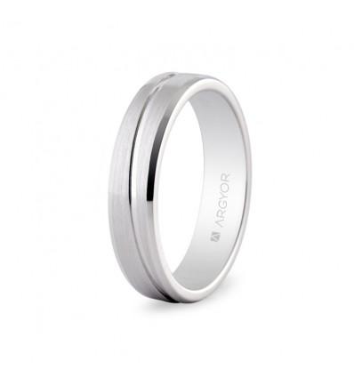 Alianza de boda en platino 0594005