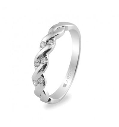 Sortija mod. 74B0020. Sortija con 6 diamantes 0.21ct