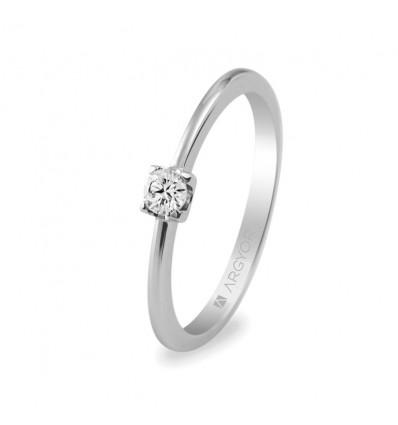 Sortija mod. 74B0005. Anillo de compromiso 1 diamante 0.10ct