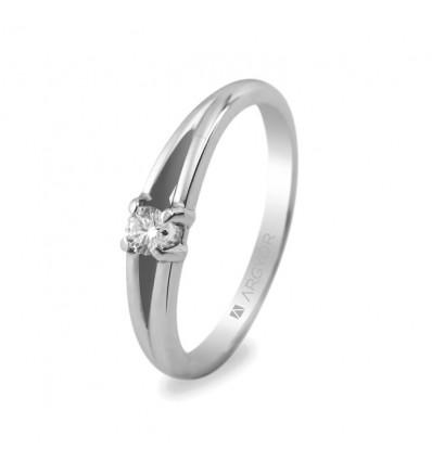 Sortija mod. 74B0001. Anillo de compromiso 1 diamante 0.10ct