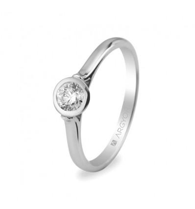 Sortija mod. 74B0022. Sortija con 1 diamante 0.30ct