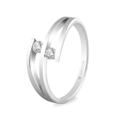 Sortija mod. 74B0035. Sortija con 2 diamantes 0.14ct