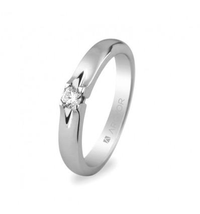 Sortija mod. 74B0003. Anillo de compromiso 1 diamante 0.10ct