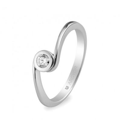 Sortija mod. 74B0007. Anillo de compromiso 1 diamante 0.10ct