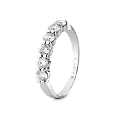 Sortija mod. 74B0037. Anillo compromiso 6 diamantes 0.60ct