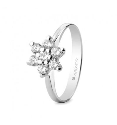 Sortija mod. 74B0041. Sortija con 7 diamantes 0.435ct.