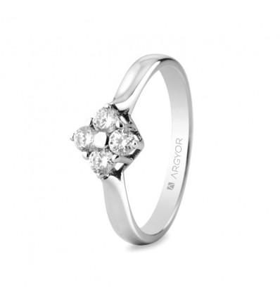 Sortija mod. 74B0042. Sortija con 4 diamantes 0.30ct
