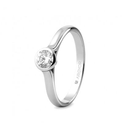 Sortija mod. 74B0043. Sortija con 1 diamante 0.34ct
