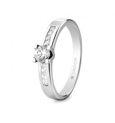 Sortija mod. 74B0045. Anillo compromiso de diamantes (74B0045)