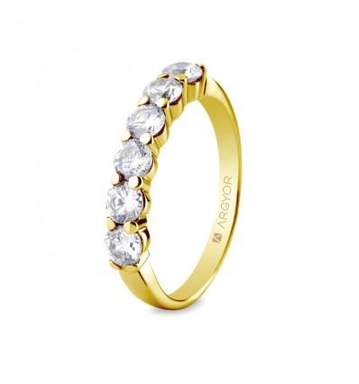Sortija mod. 74A0038. Sortija con 6 diamantes 1.00ct