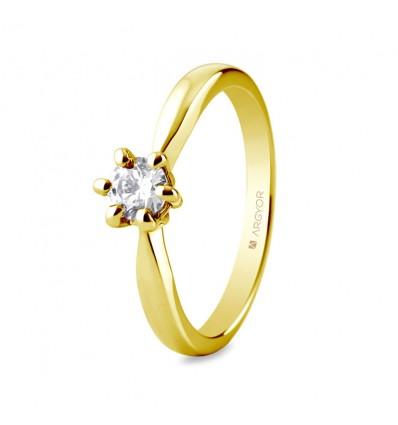 Sortija mod. 74A0040. Sortija con 1 diamante 0.34ct