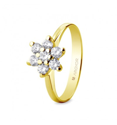 Sortija mod. 74A0041. Sortija con 7 diamantes 0.435ct.