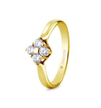 Sortija mod. 74A0042. Sortija con 4 diamantes 0.30ct