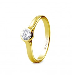 Sortija mod. 74A0043. Sortija con 1 diamante 0.34ct