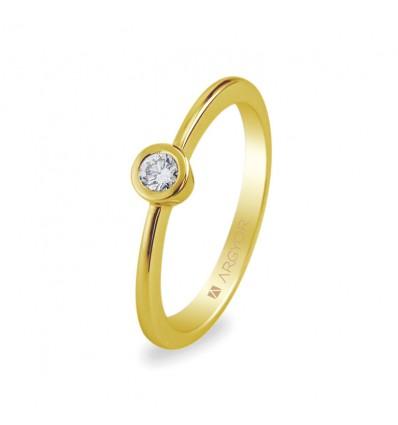 Sortija mod. 74A0006. Sortija con 1 diamante 0.10ct