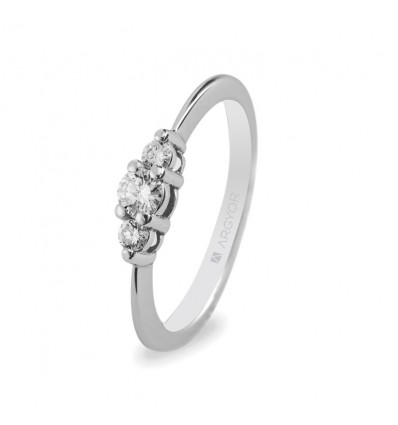 Anillo de compromiso 3 diamantes 0.17ct