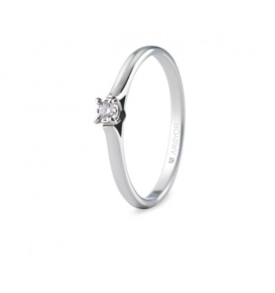 Sortija con 1 diamante 0.05ct