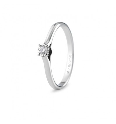 Sortija con 1 diamante 0.08ct
