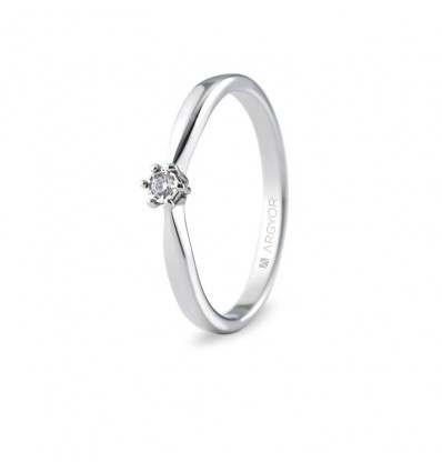 Sortija con 1 diamante 0.03ct