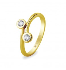Sortija con 2 diamantes 0.14ct