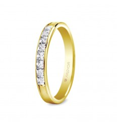 Sortija con 9 diamantes 0.44ct