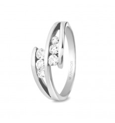 Sortija con 6 diamantes 0.352ct