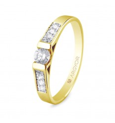 Sortija con 9 diamantes 0.28ct